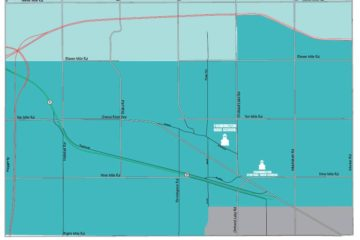 Farmington Hills School District proposed boundary changes map for 2019 to 2020 school year.